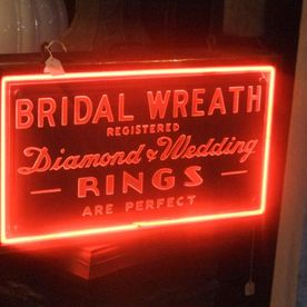 Antique sign in Toronto at Vintage Lighting By Victorian Revival