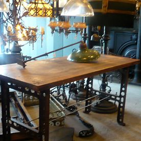 Antique table in Toronto at Vintage Lighting By Victorian Revival